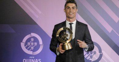 """""""Tôi là số 1 trong làng bóng đá"""" : C.Ronaldo tuyên bố trong lễ nhận giải cầu thủ xuất sắc tại Bồ Đào Nha"""