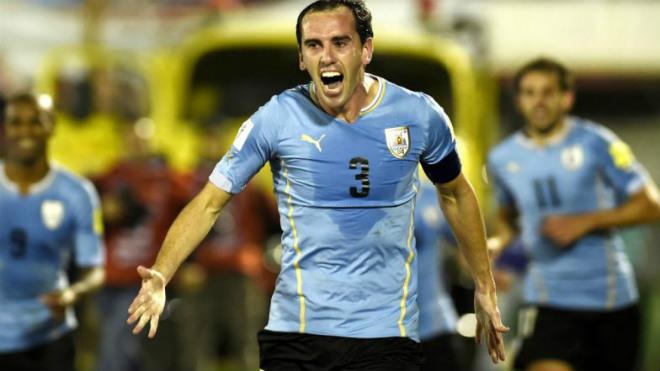 Trung vệ Diego Godin là đội trưởng lâu năm của ĐT Uruguay