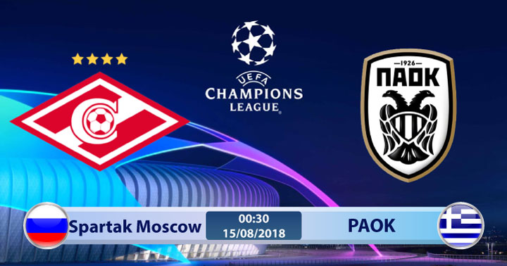 Link sopcast Spartak Moscow vs PAOK