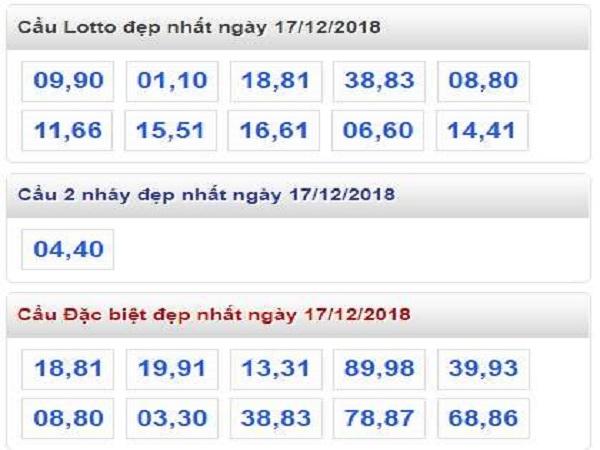 Soi cầu lô tô miền bắc ngày 17/12 chính xác 99%
