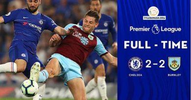 Chelsea thất vọng không thể vào Top 3 khi để Burnley cầm hòa với tỷ số 2-2