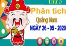 Phân tích XSQNM ngày 26/5/2020 – Phân tích xổ số Quảng Nam thứ 3