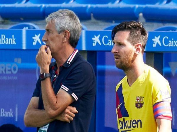 Messi gặp riêng HLV Setien, dẹp tin đồn mâu thuẫn