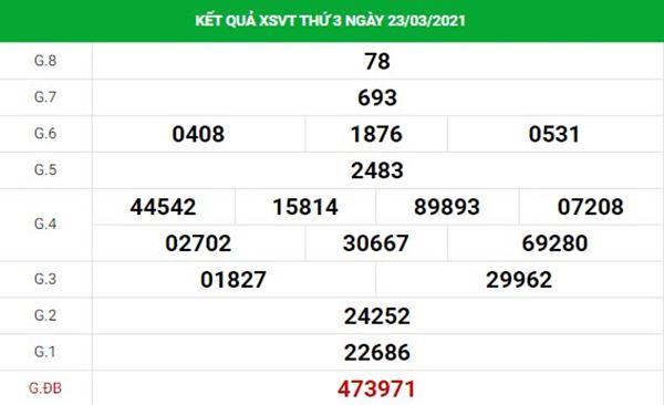 Thống kê XSVT 30/3/2021 chốt số đẹp giờ vàng Vũng Tàu thứ 3