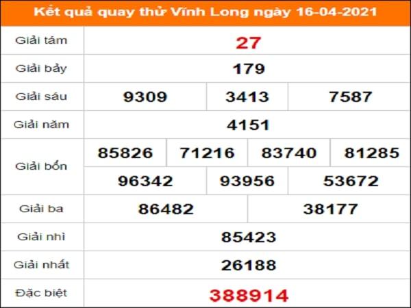 Quay thử xổ số Vĩnh Long ngày 16/4/2021