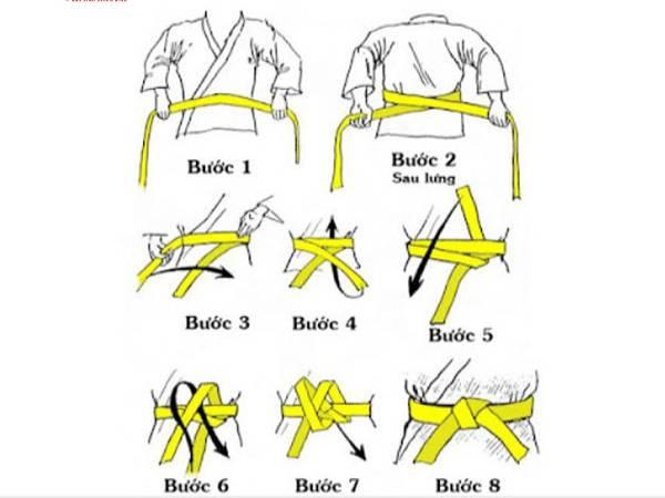 Cách thắt đai võ taekwondo chuẩn nhất không thể bỏ qua