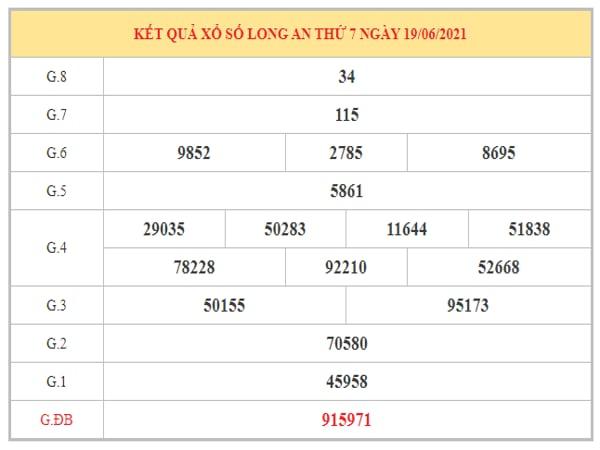 Nhận định KQXSLA ngày 26/6/2021 dựa trên kết quả kì trước