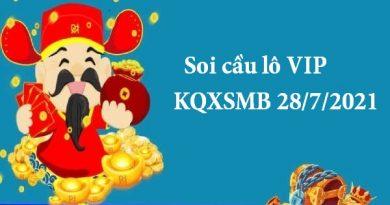 Soi cầu lô VIP KQXSMB 28/7/2021 thứ 4