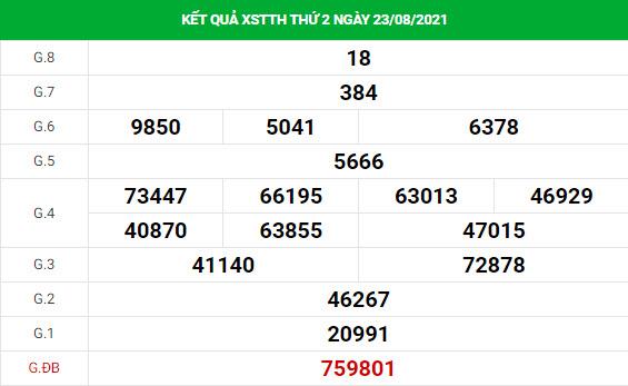 Soi cầu dự đoán xổ số Thừa Thiên Huế 30/8/2021 chính xác